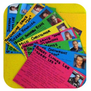 I had WAY too much fun making new, color-coded character cards for this book!