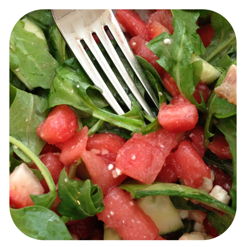 Southern Summer Salad <br>(Bacon + Strawberries = Heaven)