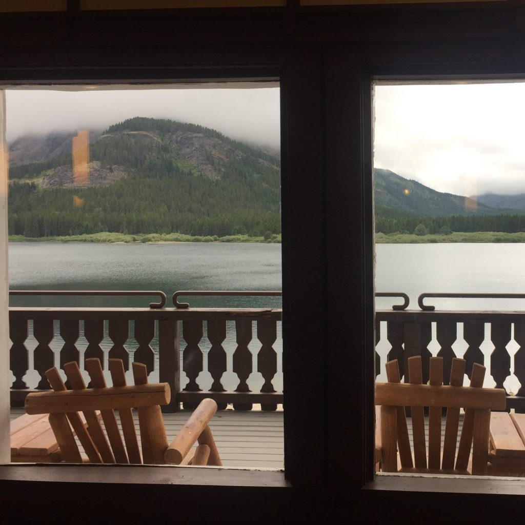 View from Many Glacier Lodge