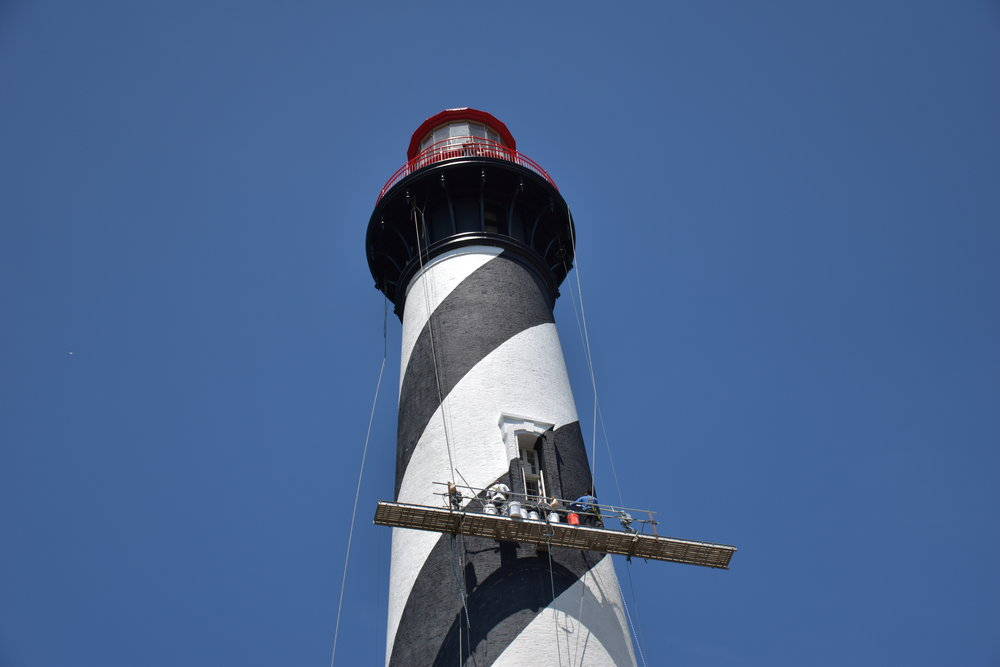 St Augustine Lighthouse Being Painted