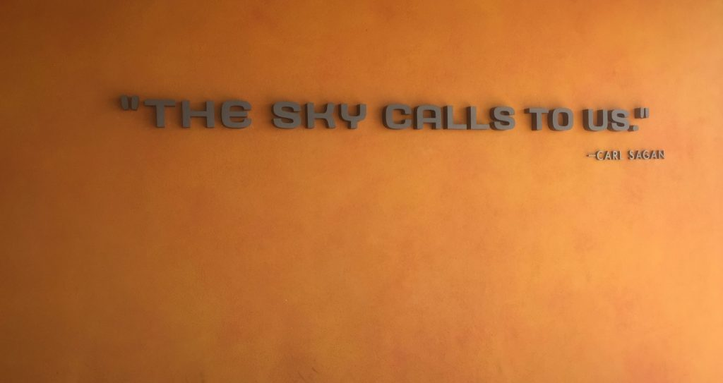 Carl Sagan quote at Kennedy Space Center